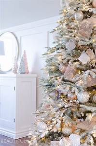 A, Snowy, Flocked, Christmas, Tree
