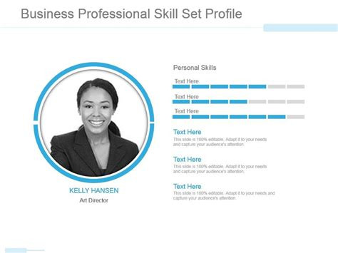 Skilled in adobe cc, animation. Powerpoint Template Personal Profile Free