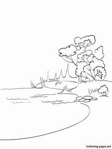 Free coloring pages of lake