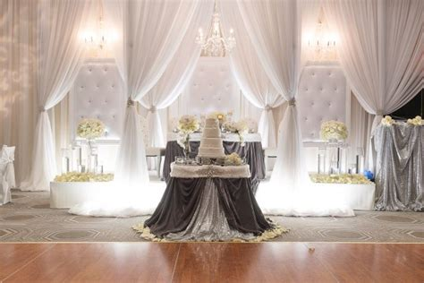 dazzling wintry weddings luxury wedding decor