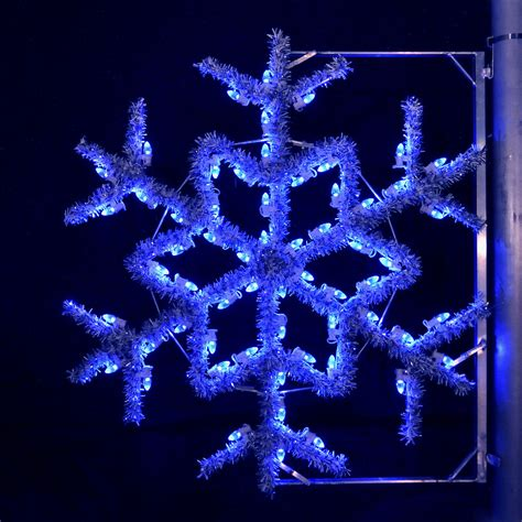 blue outdoor christmas lights shop holiday lighting specialists 4 ft garland snowflake