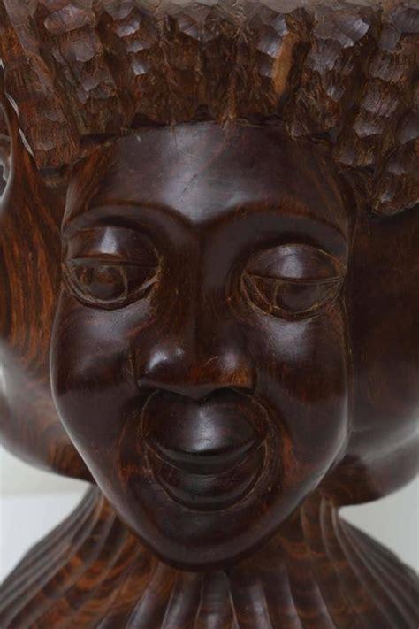 jamaican folk art sculpture   faces  sale  stdibs