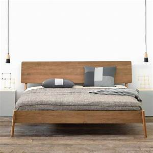 Bett Design Holz : puristisches massivholz bett air teakholz zeitloses design ~ Frokenaadalensverden.com Haus und Dekorationen