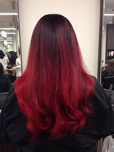 Ombré Hair Rouge : bright red ombre color by catherine cool hair latest ~ Melissatoandfro.com Idées de Décoration