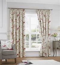 red patterned curtains Jeannie Red Patterned Tape Top Curtains