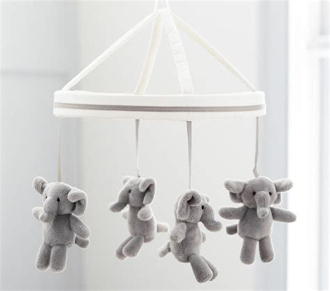harper grey elephant mobile pottery barn kids au