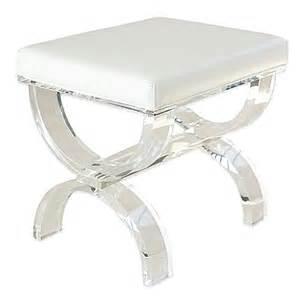 buy taymor 174 urban modern acrylic vanity bench from bed