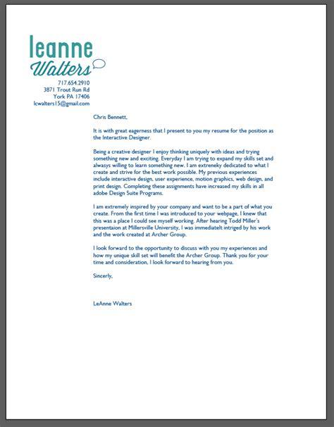 graphic design cover letter sample  graphic designer