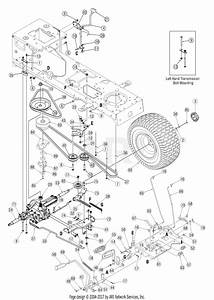 Troy Bilt 13aj609g766 Bronco  2005  Parts Diagram For Drive