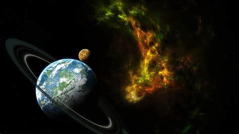 wallpaper habitable planet  rings  space