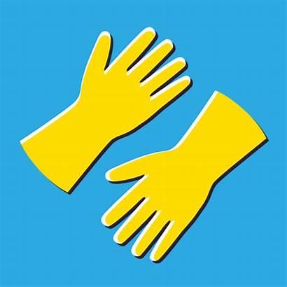 Gloves Latex Clip Vector Rubber Illustrations Royalty