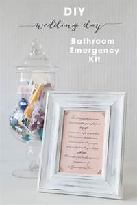 Diy bathroom emergency kit free printables the budget for Wedding bathroom kit