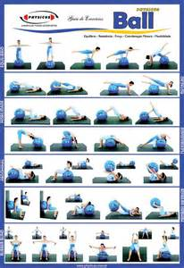 Exercise Ball Workouts Chart