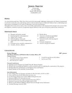 Office Resume Builder by Management Resume Template General Manager Resume