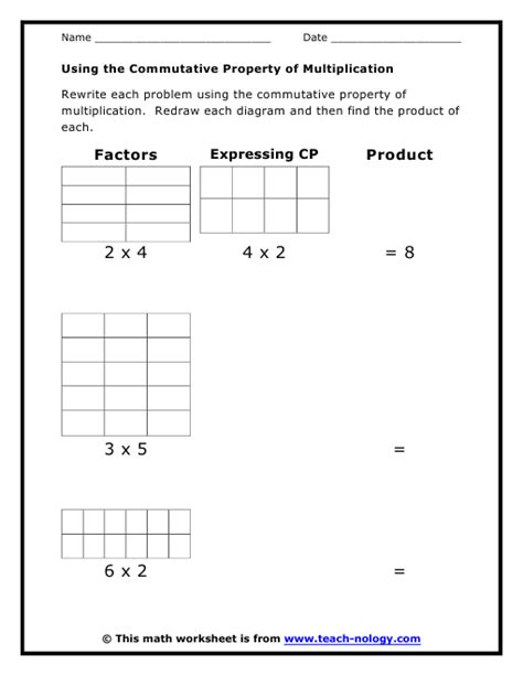 using the commutative property of multiplication