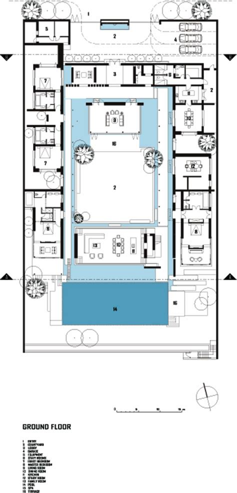 simple mediterranean house plans central courtyard serene  pond houses courtyards