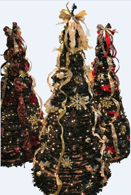 pull up christmas tree with lights fiber optics with led christmas trees supplier
