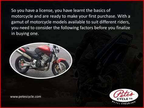 Tips To Choosing A Motorcycle Powerpoint