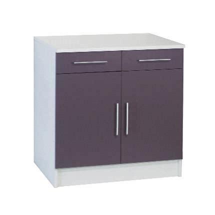 largeur meuble cuisine bas profondeur 47cm largeur 80cm 2 portes 2 tir achat