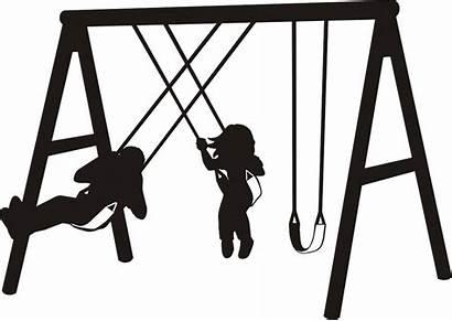 Clipart Swing Swingset Sway Recreation Swings Play
