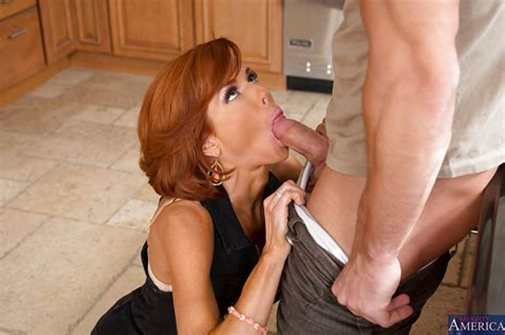#Hot #Redhead #Cougar #Seduces #And #Fucks #A #Guy #For #Some #Tasty