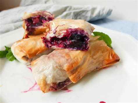 Phyllo dough is easy to make, and the difference in taste when using it to make sweet and savory pies is worth learning how. Balsamic Blueberry Phyllo Rolls Recipe