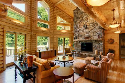 homes interiors log home interiors of carolina log homes