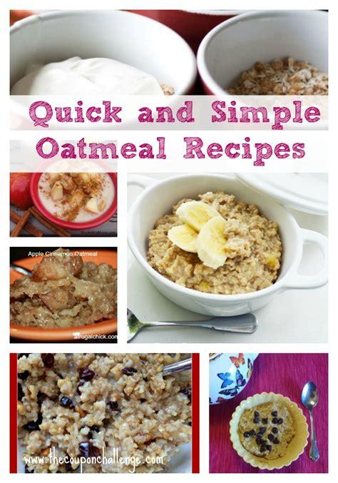 basic oatmeal recipe quick and simple oatmeal recipes 8 easy oatmeal recipes