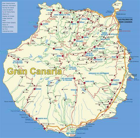 stadtplan von gran canaria detaillierte gedruckte karten