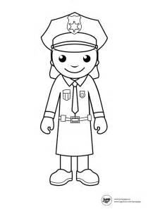 Police Woman Coloring Pages