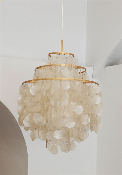 ideas  capiz shell chandelier  pinterest