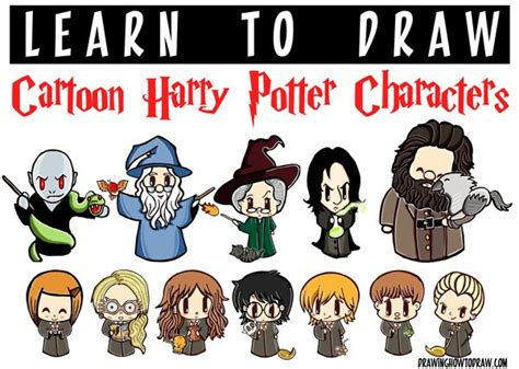 huge cartoon harry potter characters drawing tutorial