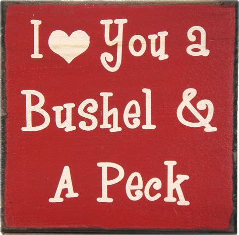 country marketplace  love   bushel sign quotes
