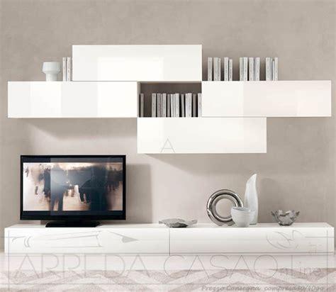ii mobile soggiorno laccato bianco lucido domino  mobili soggiorno prezzi offerte