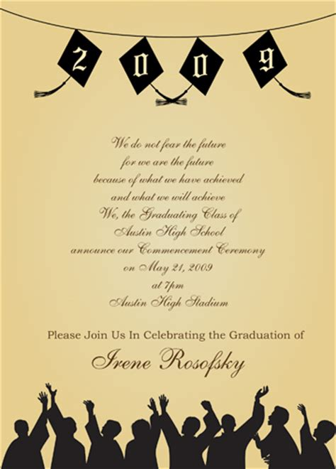 grad invites template quotes for graduation invitations quotesgram