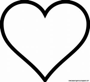 Pictures Of Hearts To Color And Print