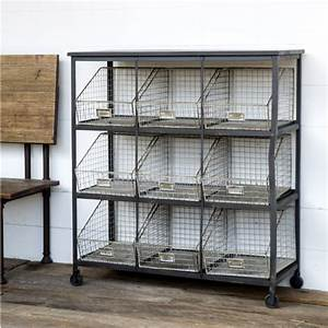 Park Hill Wire Bin Cabinet