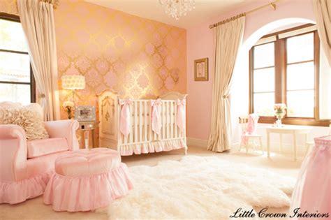 Pink, Gold, Ivory Baby Girl's Nursery