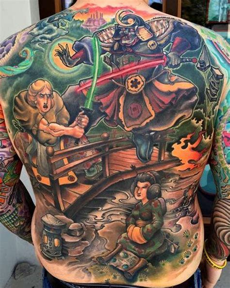 star wars  tattoo depicts characters  feudal