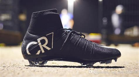 original black cr soccer cleats mercurial superfly  fg outdoor soccer shoes mens top
