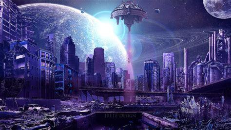 Sci Fi Wallpaper Hd Alien City By Jrete On Deviantart