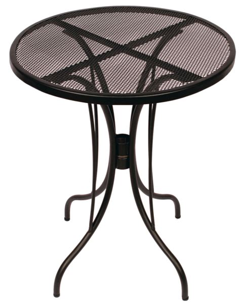 24 inch wrought iron mesh outdoor restaurant table