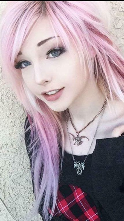 Gorgeous Pink Hair Girl Hairstyles Emo Hair Pink Hair