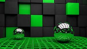 Green and black 3d wallpapers and backgrounds