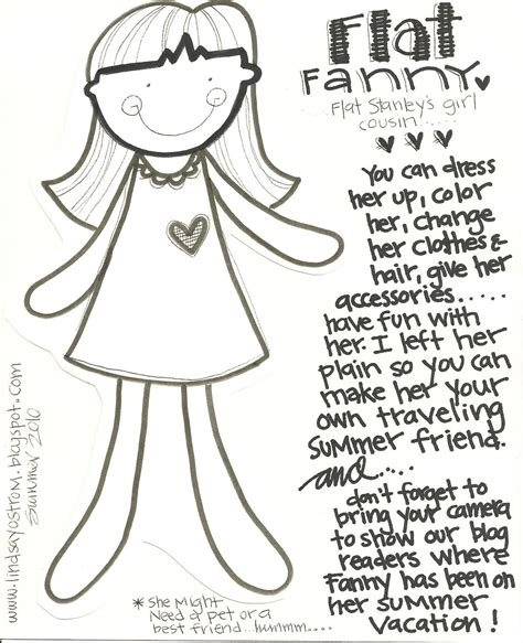 Free Flat Stanley Coloring Pages Kids Coloring