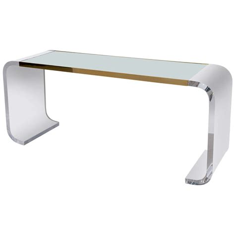 lucite sofa table lucite console tables