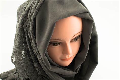 chiffon lace hijab hidden pearls