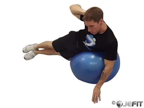 exercise ball side crunch  wall exercise