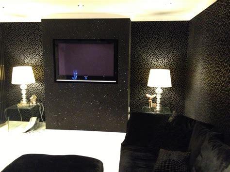 cheetah print bedrooms black glitter wallpaper bedroom