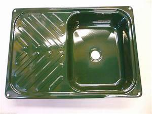 Small Enamel Sink And Draining Board Dk Green 550x400